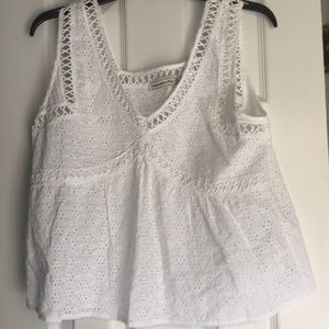 Abercrombie & Fitch eyelet sleeveless top